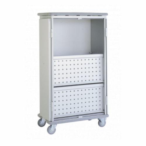 chariot de transport / à linge propre / à linge sale / avec porte