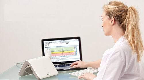 ostéodensitomètre à ultrasons / pour examen de l'avant-bras