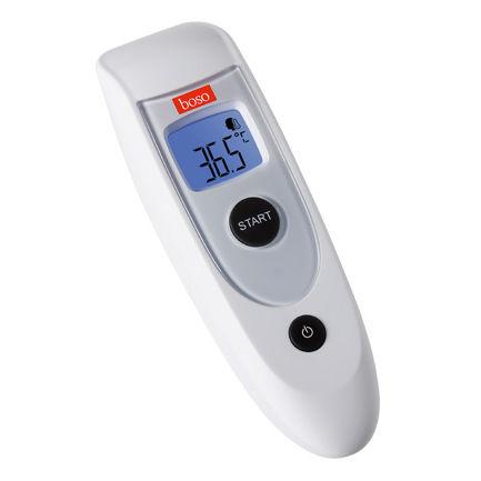 thermomètre médical / électronique / à infrarouge / frontal