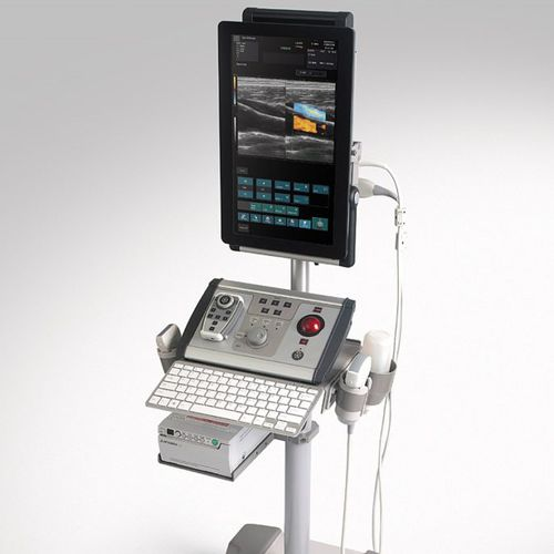 échographe portable, avec chariot / pour échographie musculo-squelettique / noir et blanc / doppler couleur