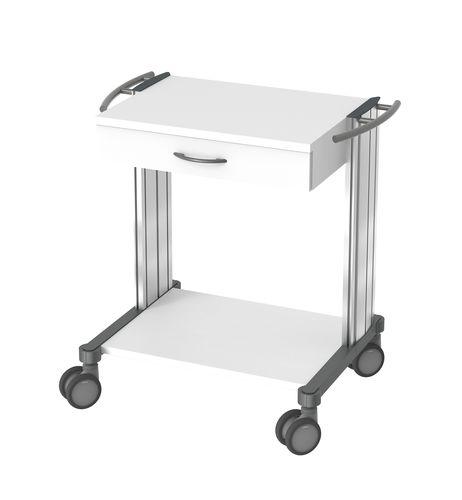chariot pour appareil / d'urgence / de service / de distribution de médicaments