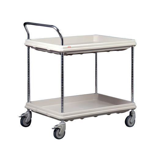 chariot multifonction / pour dispositifs médicaux / 2 tiroirs / 2 plateaux