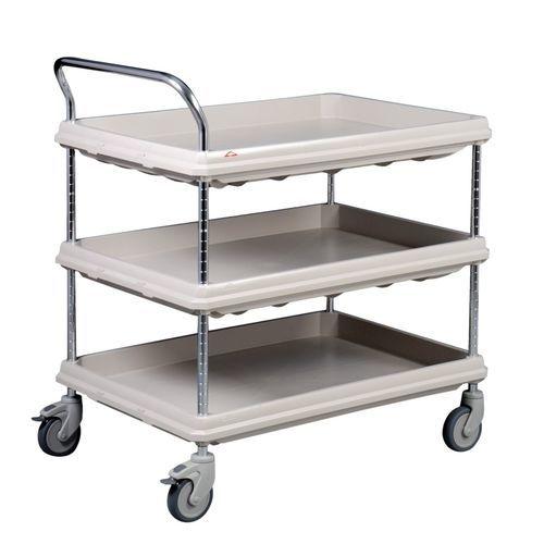 chariot multifonction / pour dispositifs médicaux / 3 plateaux / médical