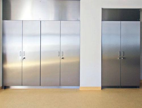 armoire de laboratoire / avec porte / en acier inoxydable