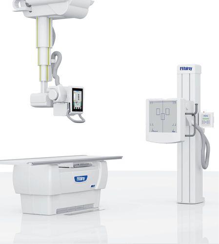 Système de radiographie / numérique / pour radiographie polyvalente / avec bras porte-tube plafonnier télescopique X-Frame DR2T SYSTEM ITALRAY