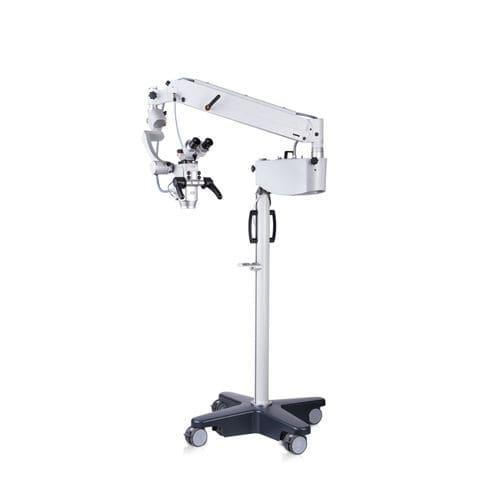 microscope de chirurgie ORL / sur roulettes