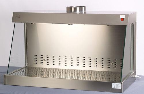 hotte de laboratoire / d'aspiration chimique / de paillasse / en inox