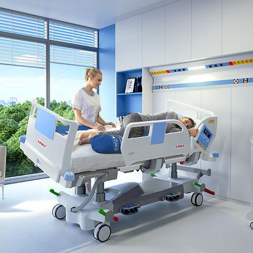 lit de soins intensifs / électrique / à hauteur réglable / inclinable latéralement