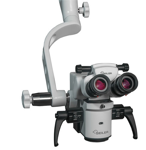 microscope de chirurgie ophtalmique / sur roulettes