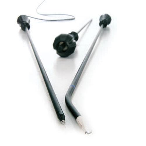 électrode laparoscopique / à crochet / monopolaire / HF