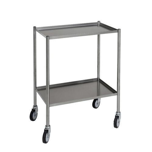 chariot de soins / à linge / avec plateau / 2 plateaux