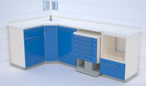Armoire de rangement / pour instruments / pour cabinet dentaire / de salle d'opération W19+W13+W7+L(55)/ W21+ W20  ERIO
