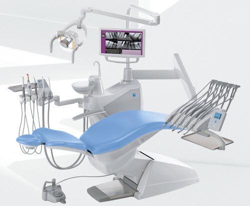 Unité de soin dentaire avec porte-instrument / avec moniteur / avec éclairage S200 STERN WEBER