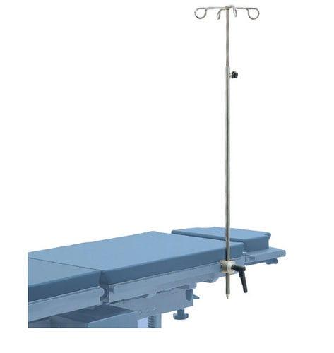 tige porte-sérum d'ancrage / 4 crochets / pour table d'opération