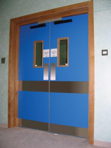 Porte battante / d'hôpital / de laboratoire / double envirotect