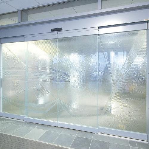 porte coulissante / d'hôpital / en verre / automatique