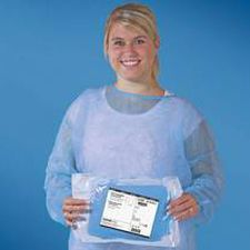 blouse chirurgicale / pour femme / non tissé / stérile