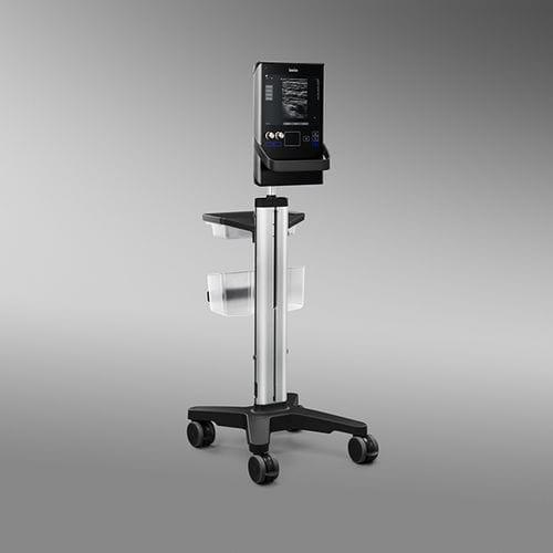échographe sur plateforme, compact / pour échographie polyvalente / noir et blanc / écran tactile