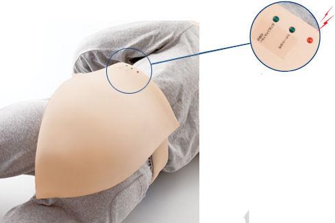 simulateur pour injections intramusculaires / de fesse
