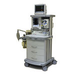 station d'anesthésie sur chariot / avec monitoring respiratoire