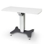 table à translation électrique / à hauteur variable / sur roulettes