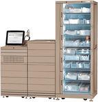 système automatisé de distribution pour pharmacie / de médicaments / avec ordinateur / sur roulettes