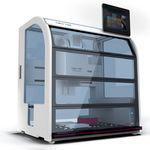 station de travail de laboratoire automatisée / par pipettage / compacte