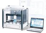 station de travail de laboratoire pour la recherche scientifique / de manipulation de liquides / compacte / automatisée