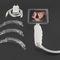 laryngoscope vidéo / avec lame / avec moniteur vidéo intégré / à usage unique