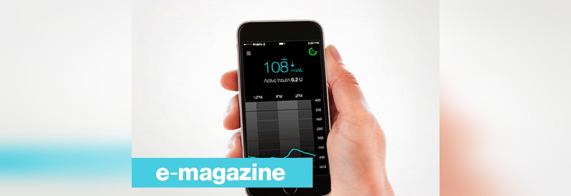 Données patientes de diabète directement visualisables sur un smartphone