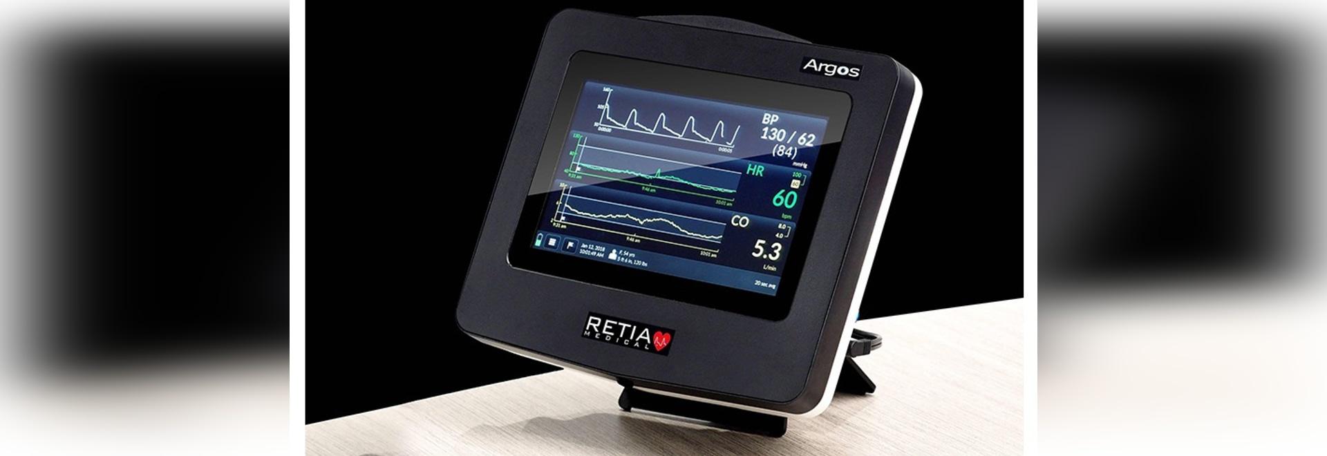 Moniteur de débit cardiaque d'Argos maintenant disponible aux États-Unis.