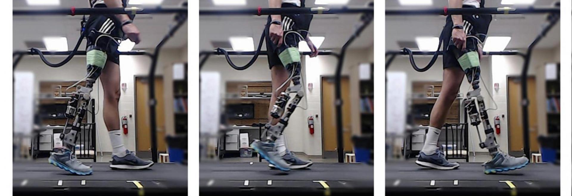 Le système d'étude de renfort forme automatiquement les jambes prosthétiques