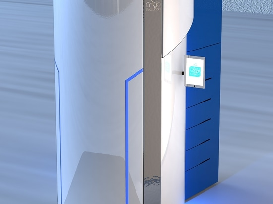 Cabine de cryothérapie - Jouvence grise et bleue