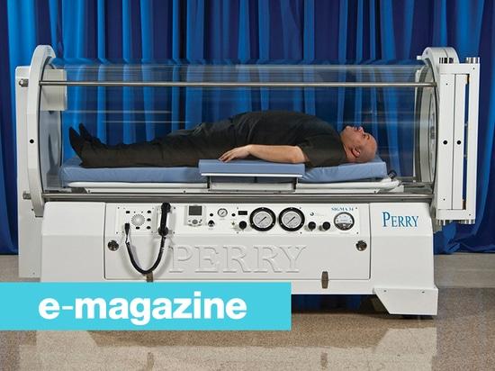 Une chambre de barothérapie pour des patients jusqu'à 320 kilogrammes