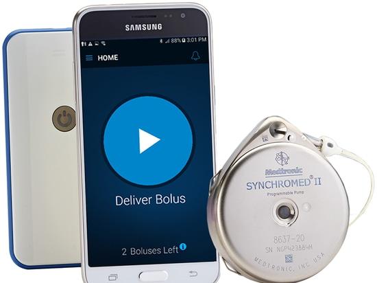 Contrôleur de Smartphone du myPTM de Medtronic pour la pompe de drogue de douleur de SynchroMed II approuvée par FDA