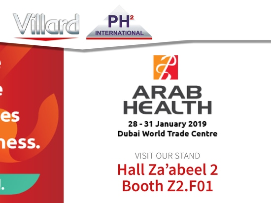 Retrouvez Villard Médical à ARAB HEALTH 2019