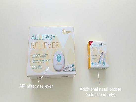 Soulageurs d'allergie avec les sondes de nez remplaçables