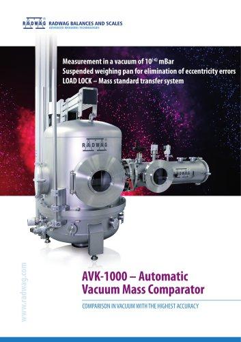 AVK-1000 - Automatic Vacuum Mass Comparator
