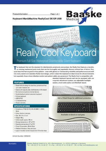 Keyboard Man&Machine ReallyCool DE/GR USB