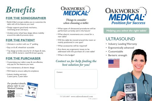Ultrasound Table Tri-fold Brochure