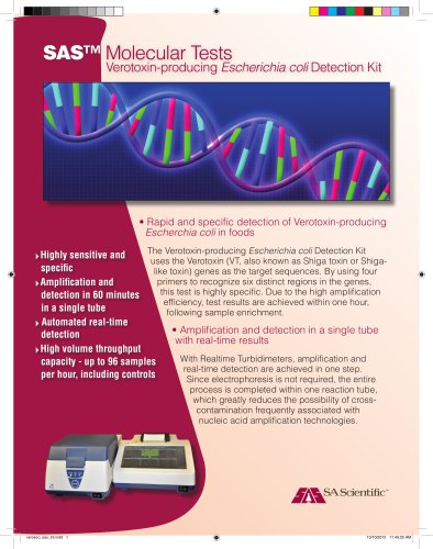 Verotoxin-producing Escherichia coli Detection Kit