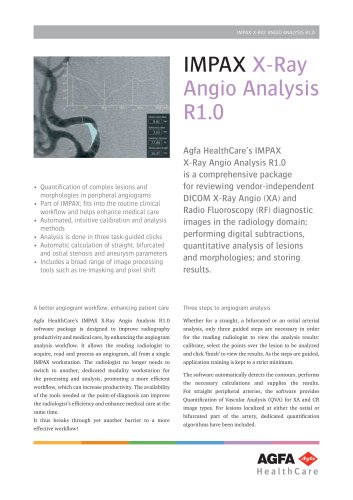IMPAX X-Ray Angio Analysis R1.0