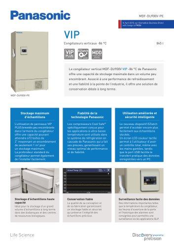 MDF-DU900V VIP Congélateurs verticaux -86 °C