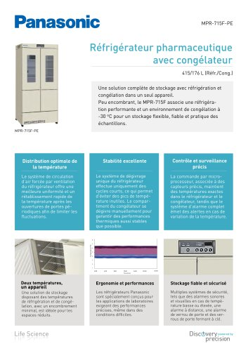 MPR-715F Réfrigérateur pharmaceutique avec congélateur