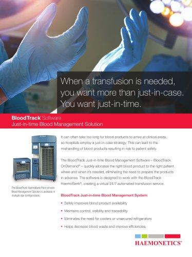 BloodTrack Software