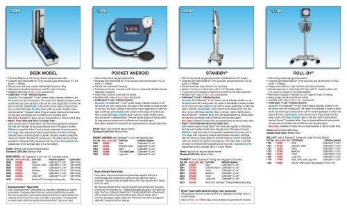 Clinical Sphygmomanometers