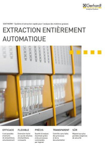 Extracteur rapide et automatique SOXTHERM