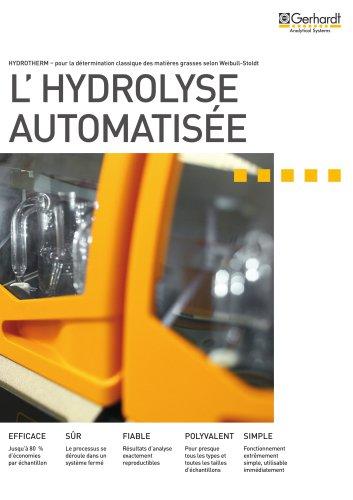 Système automatique d'hydrolyse HYDROTHERM