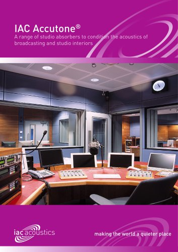 Accutone Studio Absorption Panels
