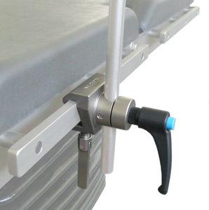 clameau pour table d'opération en acier inoxydable